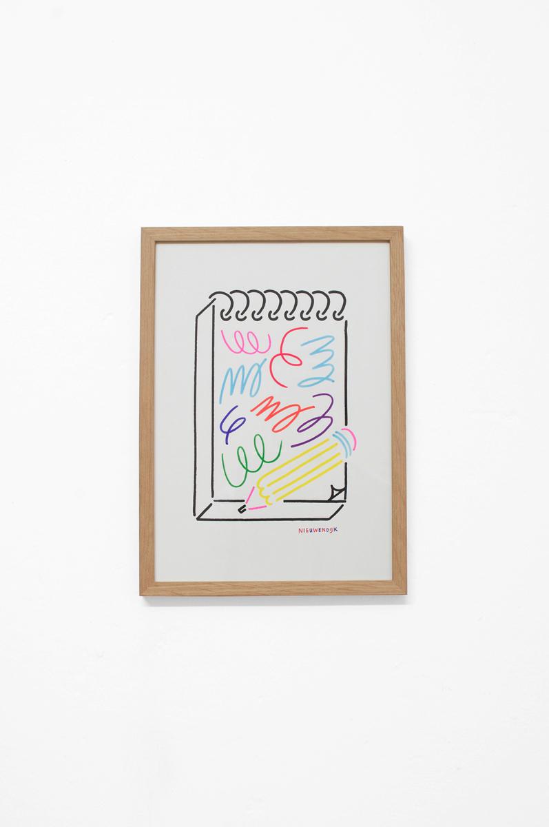 Ninasagt – Jordy van den Nieuwendijk, Kiosk Drawing