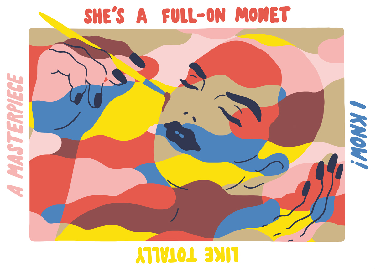 Ninasagt – Sara Andreasson, Full on Monet