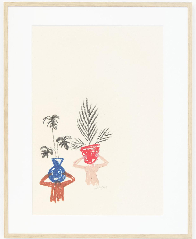 Ninasagt – B.D. Graft, pot-heads_oil-pastel-and-charcoal-on-paper_29.7-x-42-cm-800