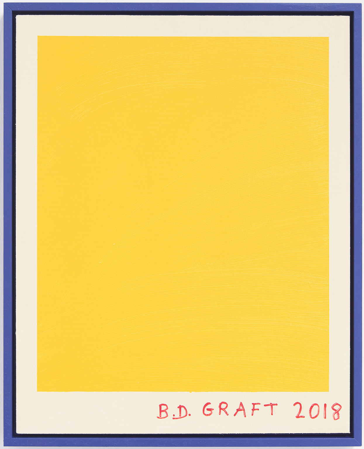 Ninasagt – B.D. Graft, yellow-brushstrokes_acrylic-and-marker-on-canvas-board_40-x-50-cm_1200