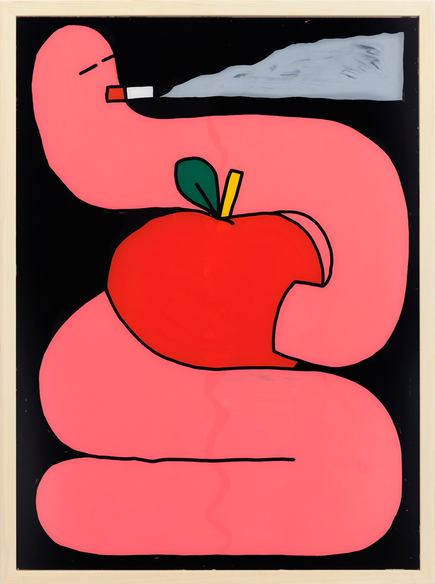 Ninasagt – Tom Guilmard, goodbye-smoking_101-x-75-cm_paint-on-acrylic_framed_signed_unique