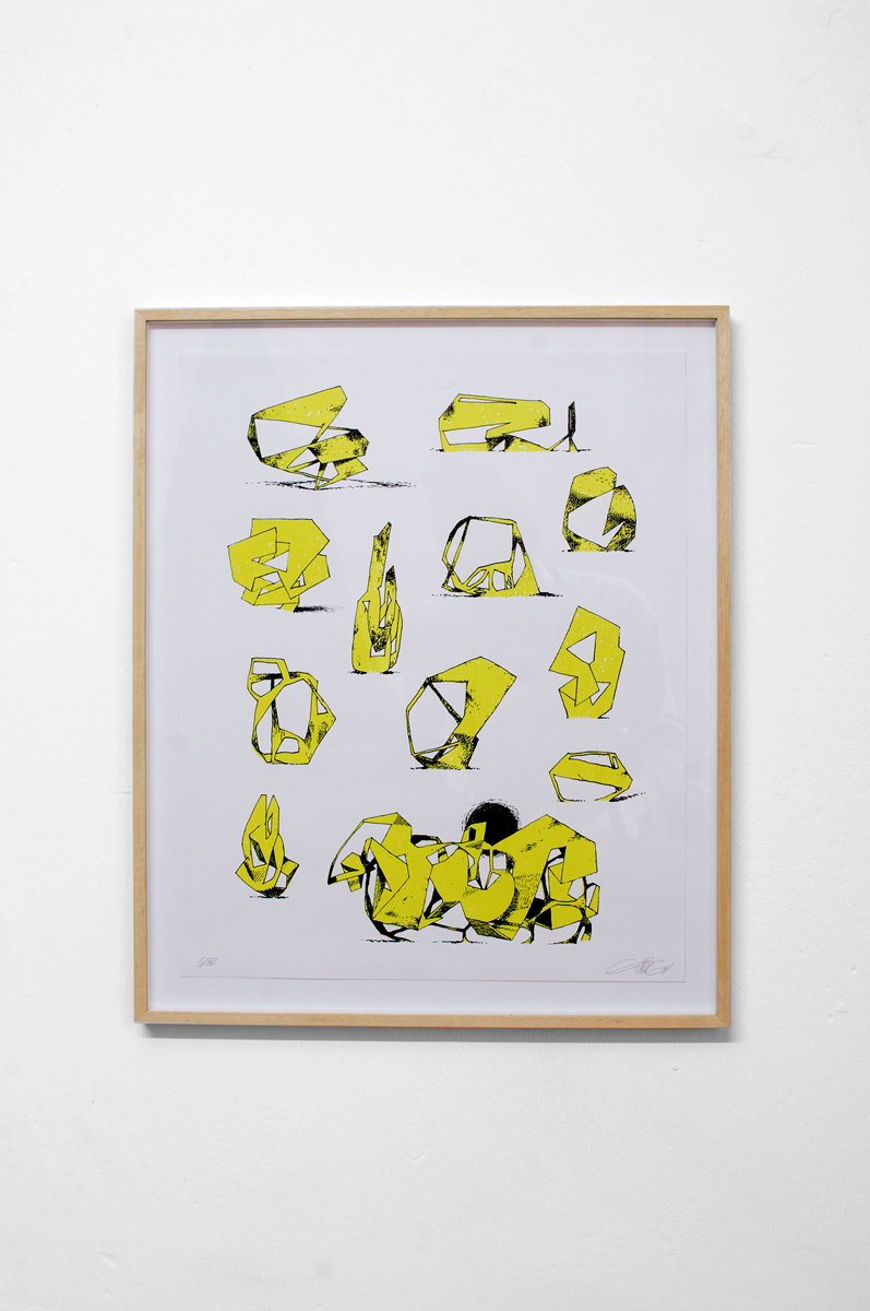 Ninasagt – Jeroen Erosie, Imaginary Sculptures (yellow)