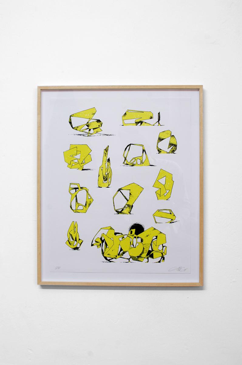 Ninasagt – Jeroen Erosie, Imaginary Sculptures (yellow)
