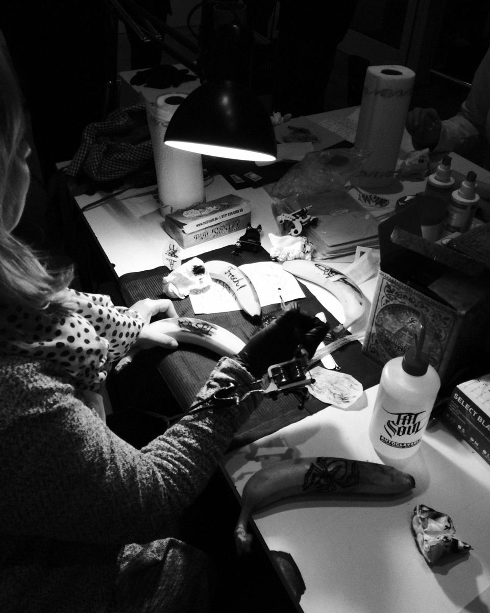 Ninasagt – Tattoo-workshop for DIE ZEIT, tattoo