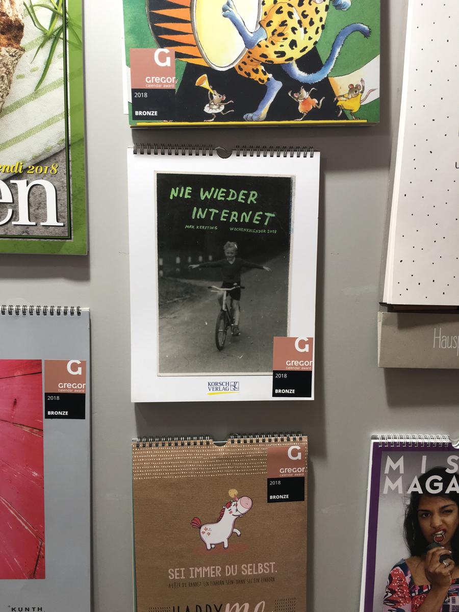 Ninasagt – Max Kerstings Jahreskalender 2018, max-kalender