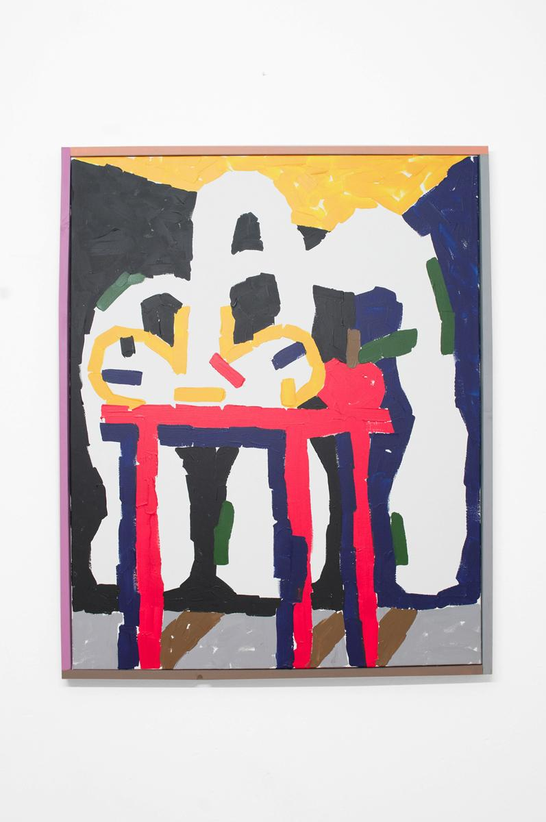 Ninasagt – Jordy van den Nieuwendijk, Pflanze und Apfel auf dem Tisch
