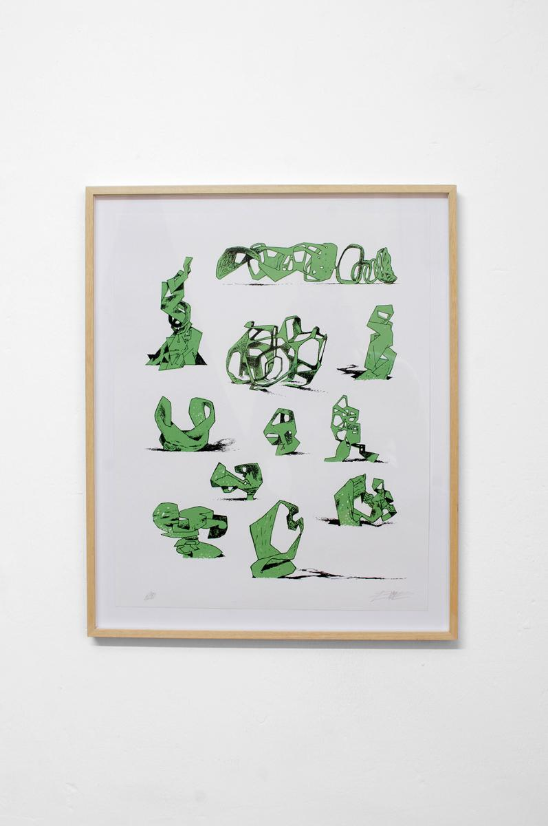 Ninasagt – Jeroen Erosie, Imaginary Sculptures (green)