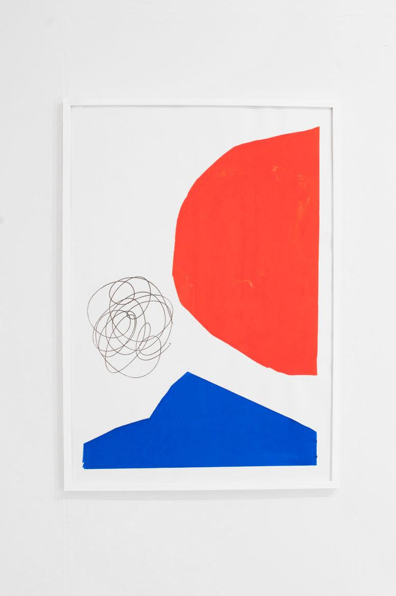 Ninasagt – Holger Kurt Jäger, Untitled Red/ Blue