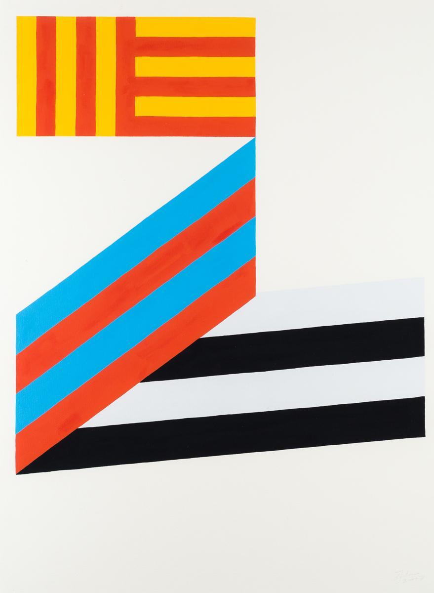 Ninasagt – Peter Judson, peter-judson_series-stripes3_gouache-on-paper_50-x-70cm_signed_unique_700