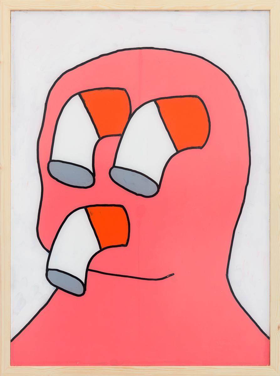 Ninasagt – Archiv, self-portrait_101-x-75-cm_paint-on-acrylic_framed_signed_unique