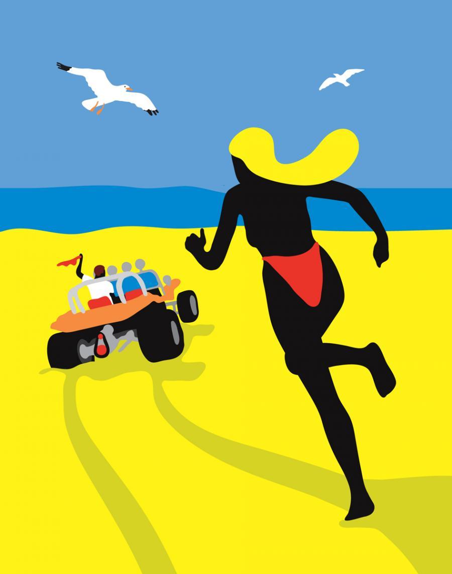Ninasagt – 'FLAT OUT' by Jean Jullien, Beach