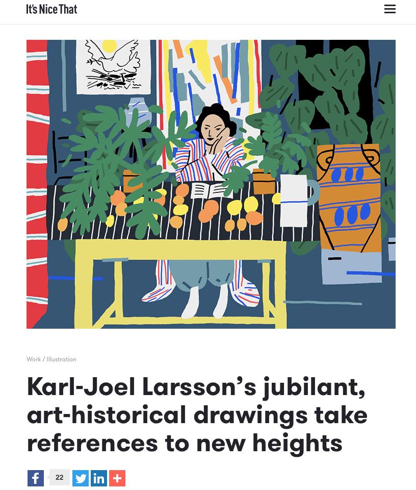 Ninasagt – Karl-Joel Larssons work featured on It's Nice That.