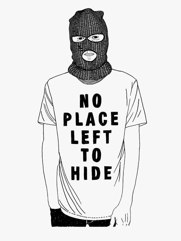 Ninasagt – I read when I look.jpg, No Place left to hide