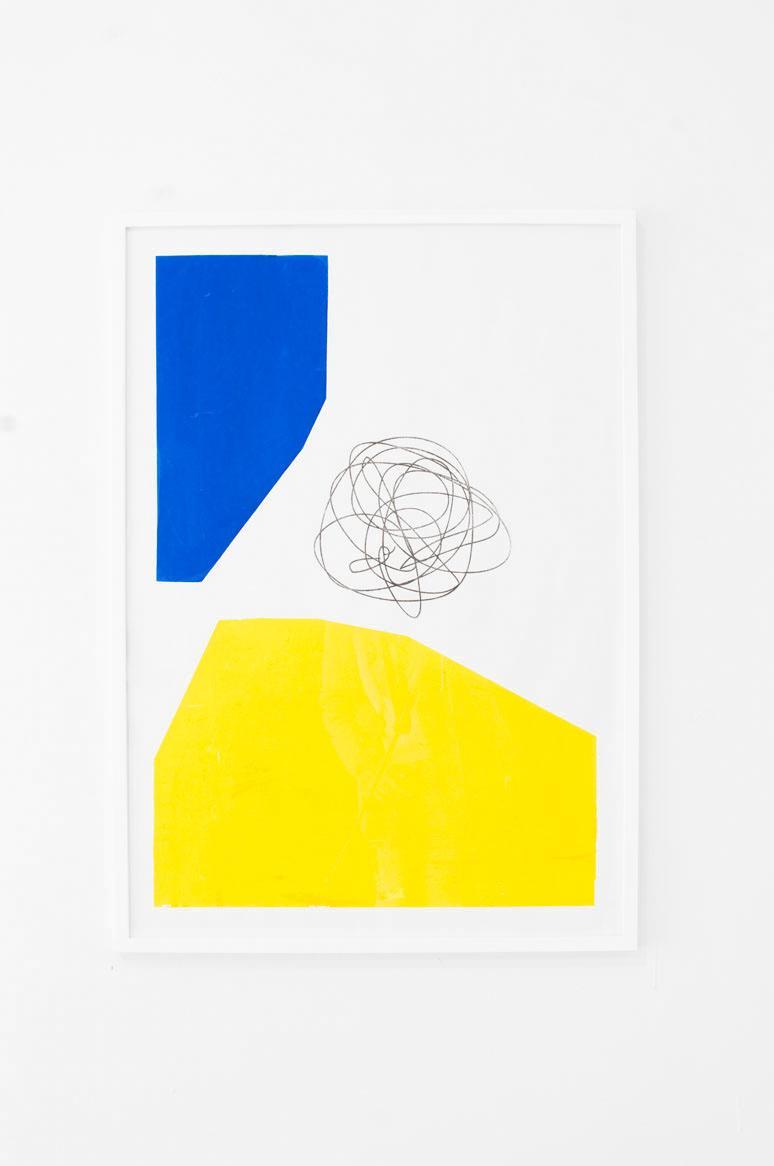 Ninasagt – 'Klokslag' a solo show by Jordy van den Nieuwendijk at Kunsthal Rotterdam, Untitled Blue/ Yellow