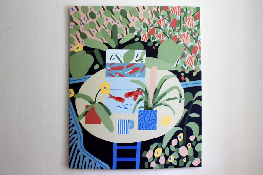 Ninasagt – Nadine Redlich, Untitled Plant Painting (I wanted a Matisse, so I painted one)